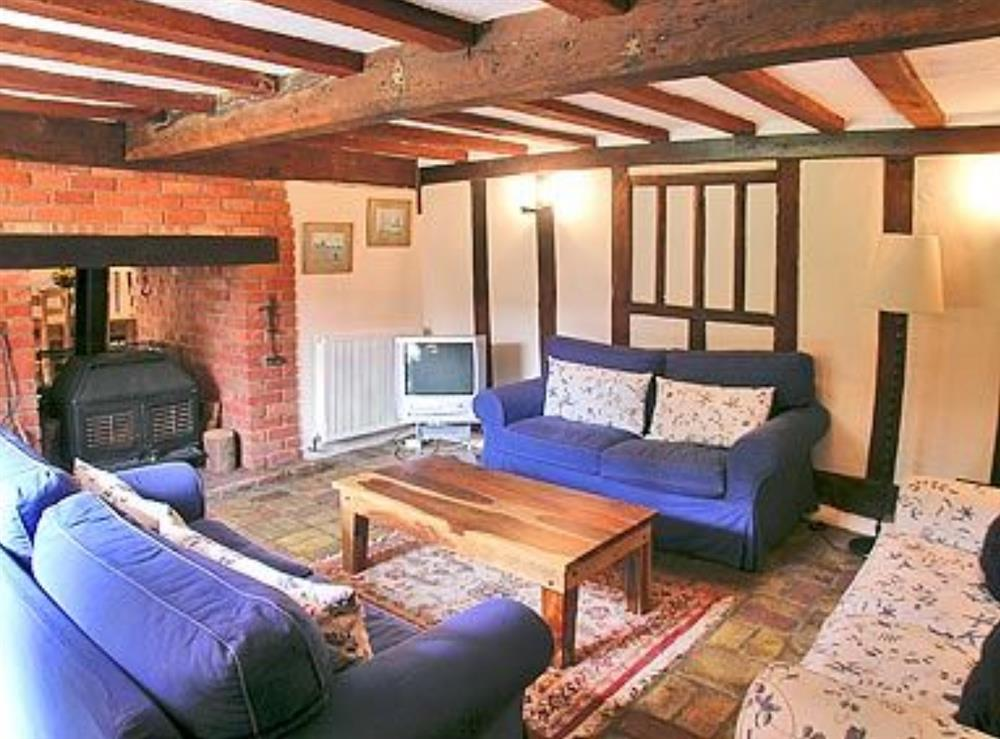 Living room at Meadow Cottage in Linstead Parva, near Southwold, Suffolk