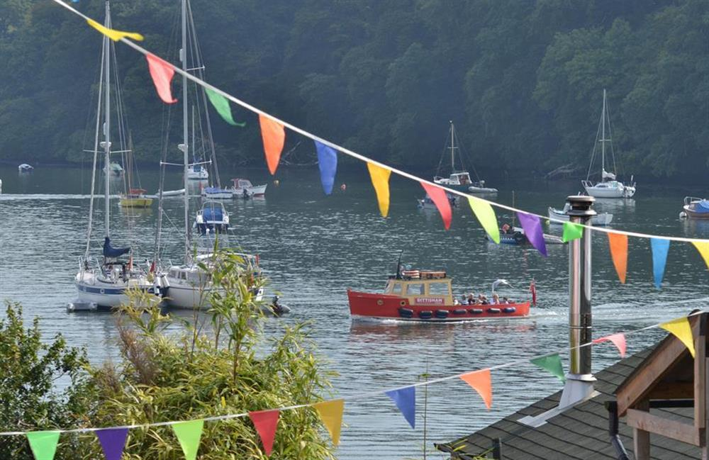 The Dittisham ferry at Meadow View Cottage, Dittisham
