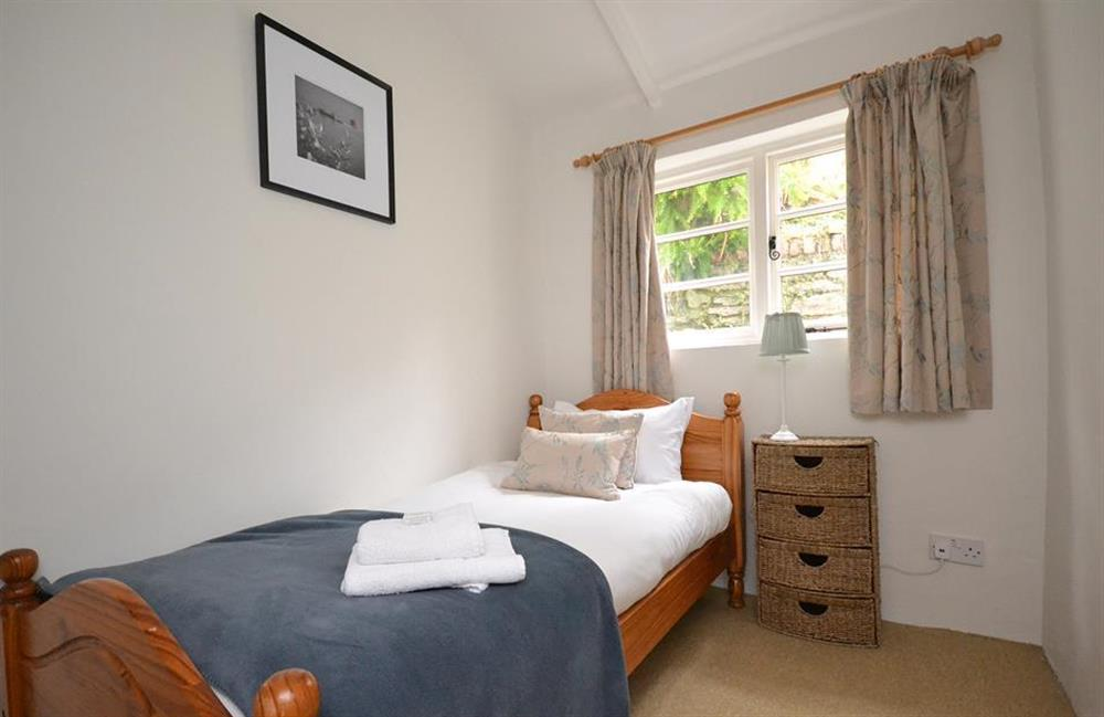 The ground floor single bedroom at Meadow View Cottage, Dittisham