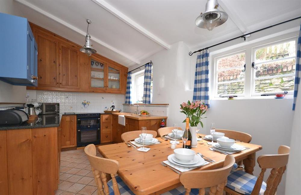 The light and bright dining kitchen at Meadow View Cottage, Dittisham