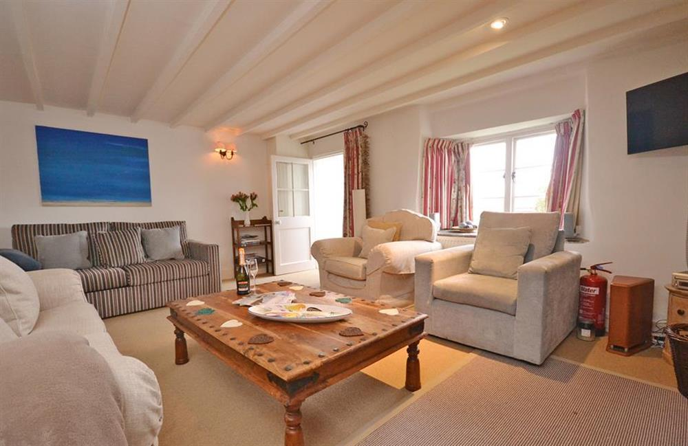 The lounge is very comfortably furnished at Meadow View Cottage, Dittisham