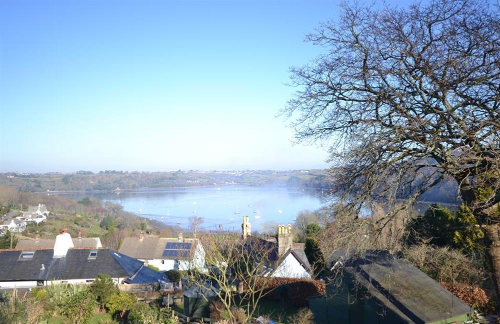 The stunning view from the garden over Dittisham and the River Dart at Meadow View Cottage, Dittisham