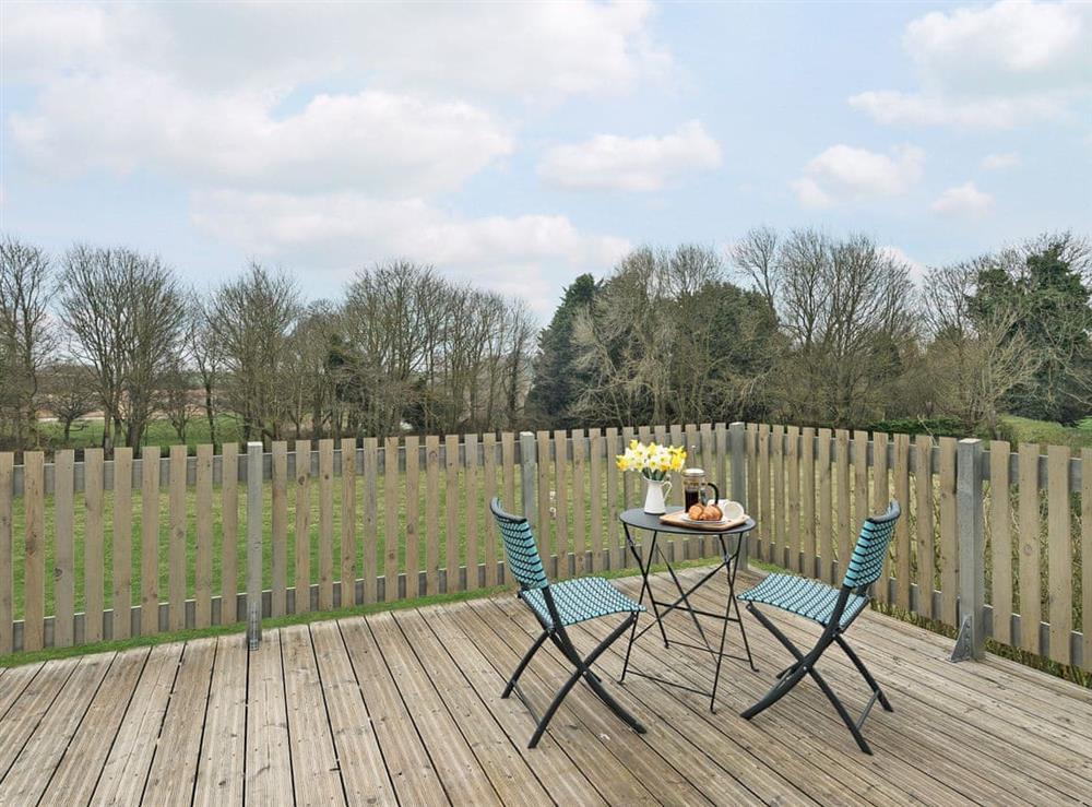 Impressive veranda at Meadow View in North Walsham, Norfolk