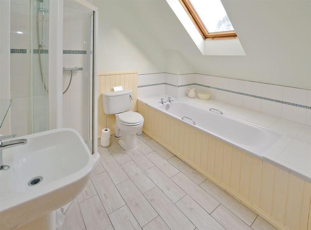 Bathroom at Meadowsweet Cottage in Kingswear, Nr Dartmouth, South Devon., Great Britain