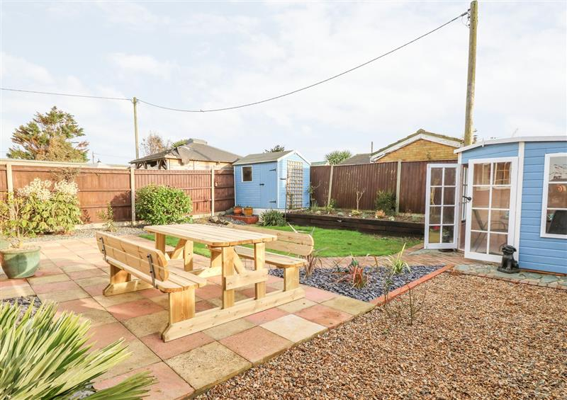 This is the garden at Mermaids Purse, Eccles-On-Sea