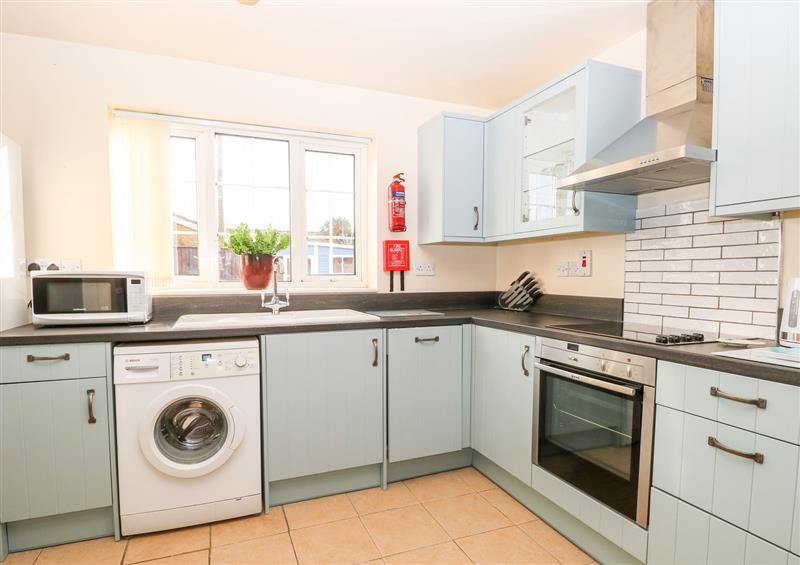 This is the kitchen at Mermaids Purse, Eccles-On-Sea
