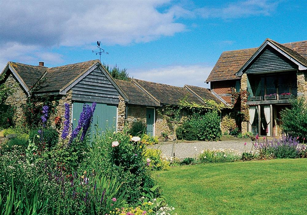 Middle Barn Cottage (shown left) at Middle Barn Cottage in Bucknell, Shropshire