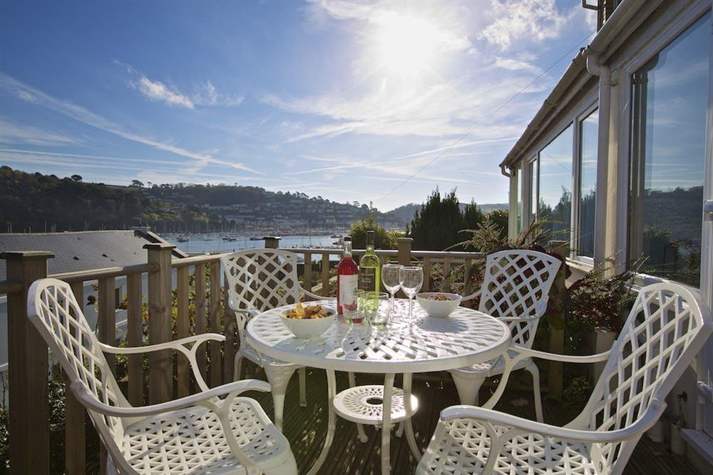 Beautiful views from the decking area to the front of the house at Middle Watch in , Dartmouth