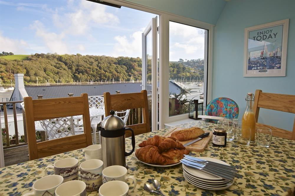 Dining area with lovely views from the bay window (photo 2) at Middle Watch in , Dartmouth