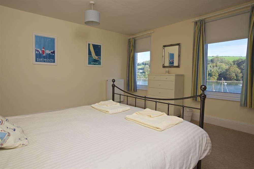 Master double bedroom has lovely river views at Middle Watch in , Dartmouth