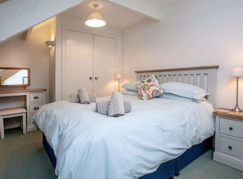 Double bedroom at Milbourne Cottage in Bow Creek, Nr Totnes, South Devon., Great Britain