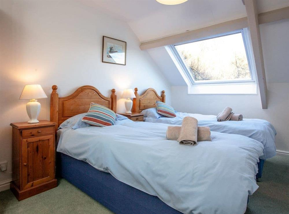 Twin bedroom at Milbourne Cottage in Bow Creek, Nr Totnes, South Devon., Great Britain