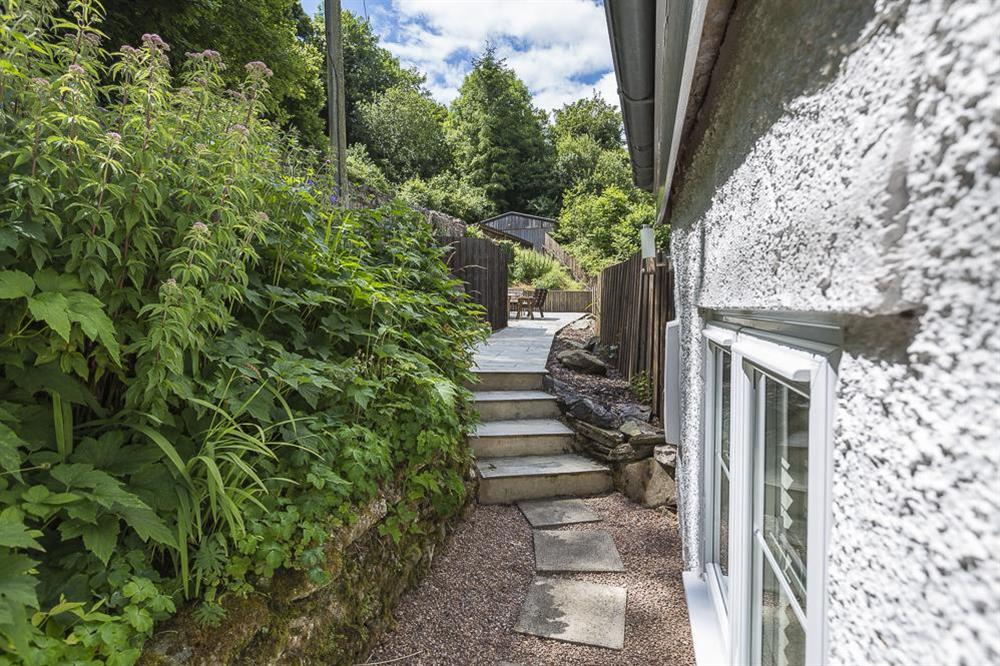 Pathway to the terrace at Mill Grange in , Dartmouth