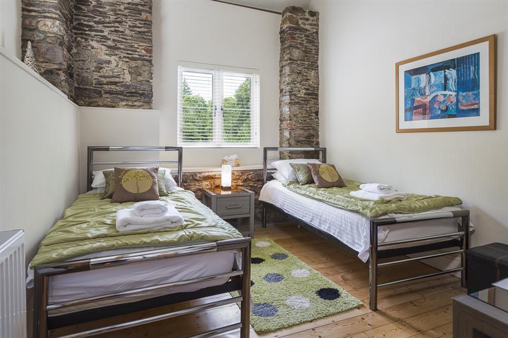 Twin bedroom (ground floor) at Mill Grange in , Dartmouth