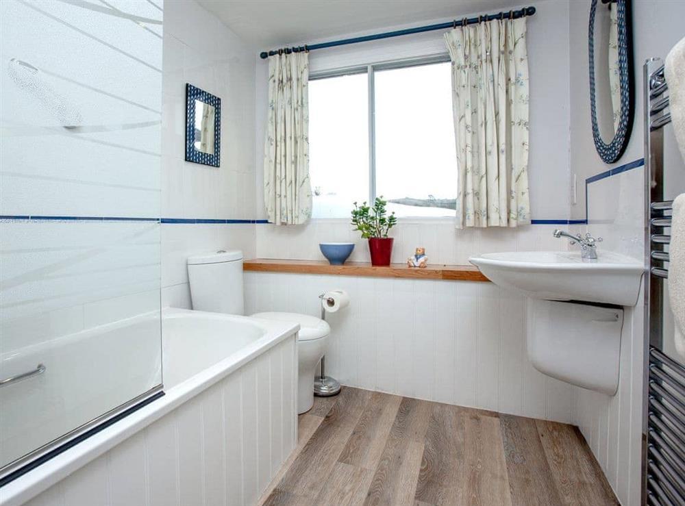 Bathroom at Mill Leat in Bow Creek, Nr Totnes, South Devon., Great Britain