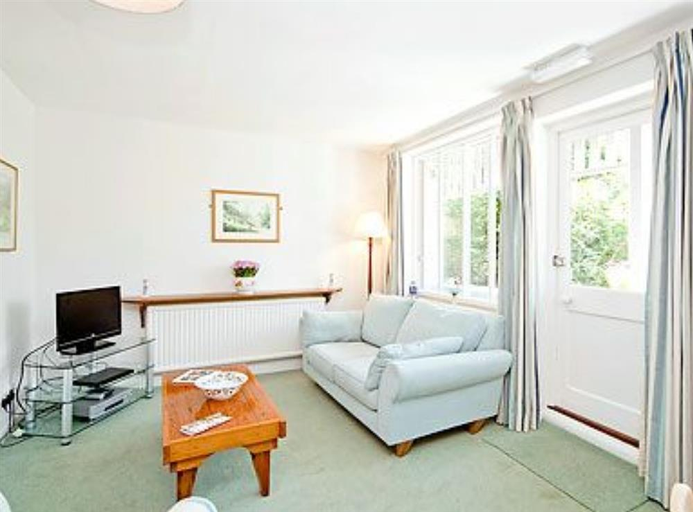 Living room at Mill Leat in Bow Creek, Nr Totnes, South Devon., Great Britain