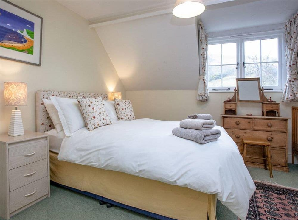 Double bedroom at Mill Stream in Bow Creek, Nr Totnes, South Devon., Great Britain