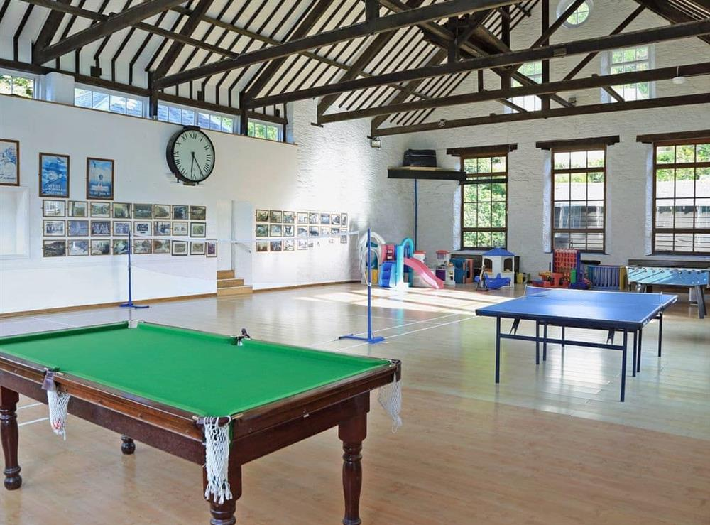 Indoor play area at Mill Stream in Bow Creek, Nr Totnes, South Devon., Great Britain