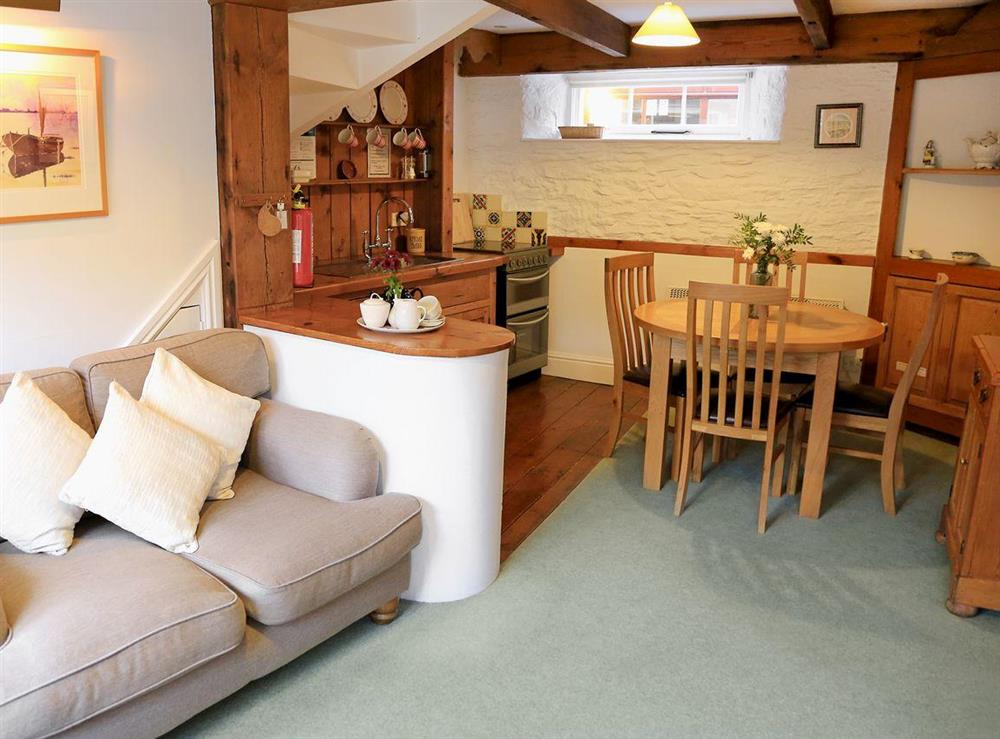 Open plan living/dining room/kitchen at Mill Stream in Bow Creek, Nr Totnes, South Devon., Great Britain