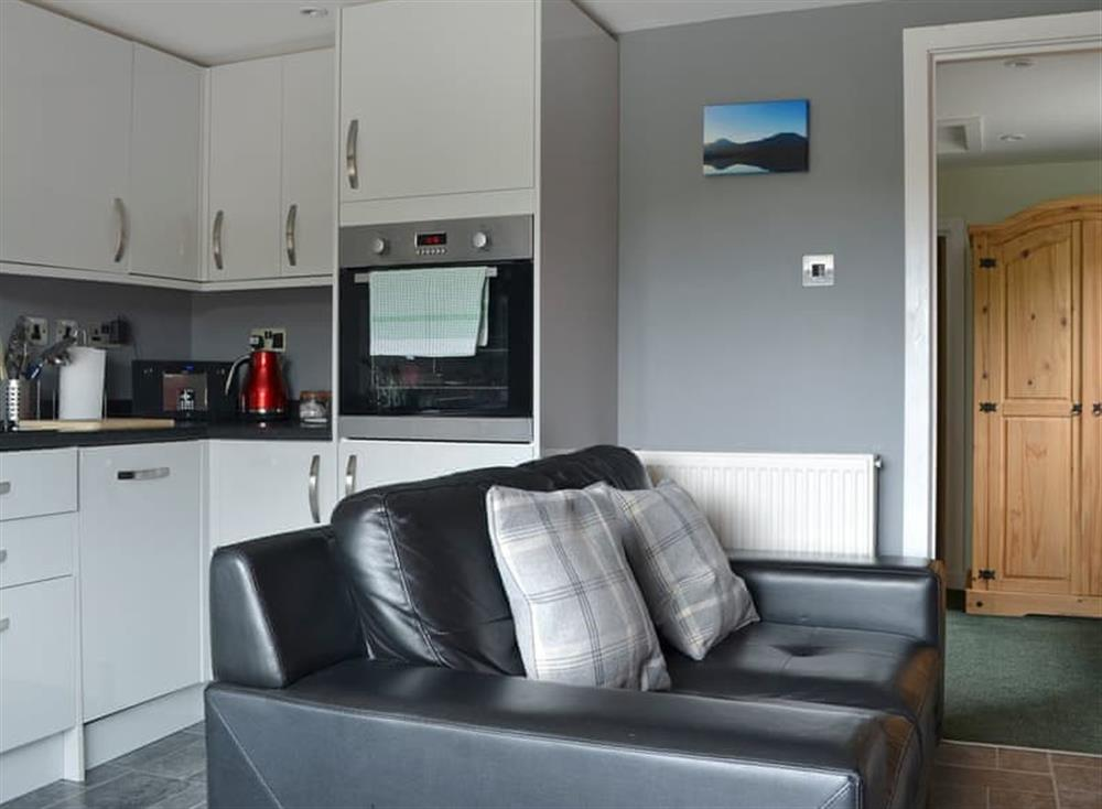 Open plan living space at Minimorn in Dunvegan, near Portree, Isle Of Skye