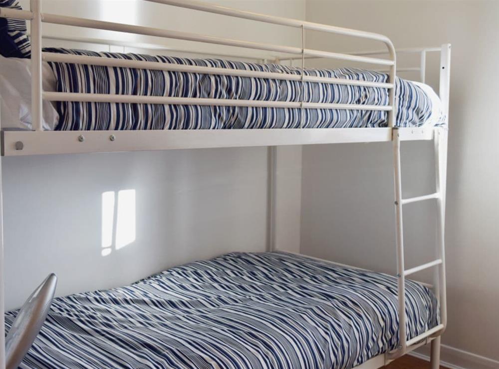 Bunk bedroom at Mirabilis in Wroxham, near Norwich, Norfolk
