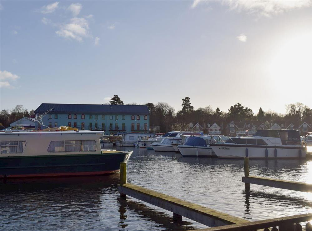 Ideal riverside property with views of the River Bure at Mirabilis in Wroxham, near Norwich, Norfolk