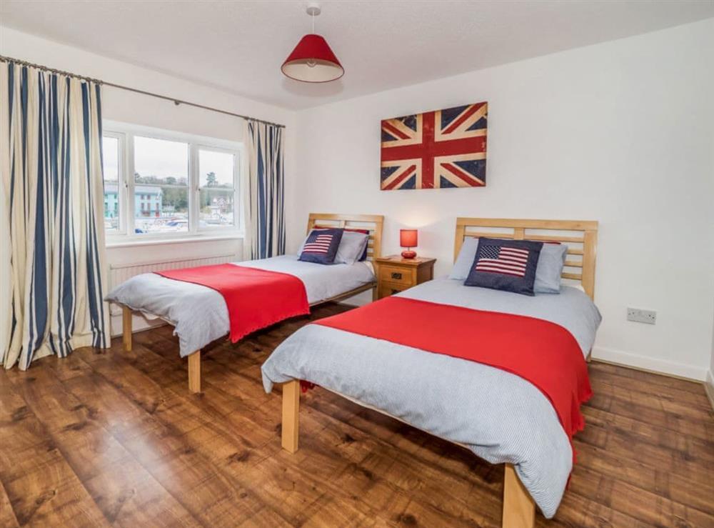 Twin bedroom at Mirabilis in Wroxham, near Norwich, Norfolk