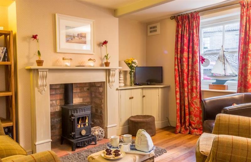 Living room at Moles Cottage, Holt, Norfolk