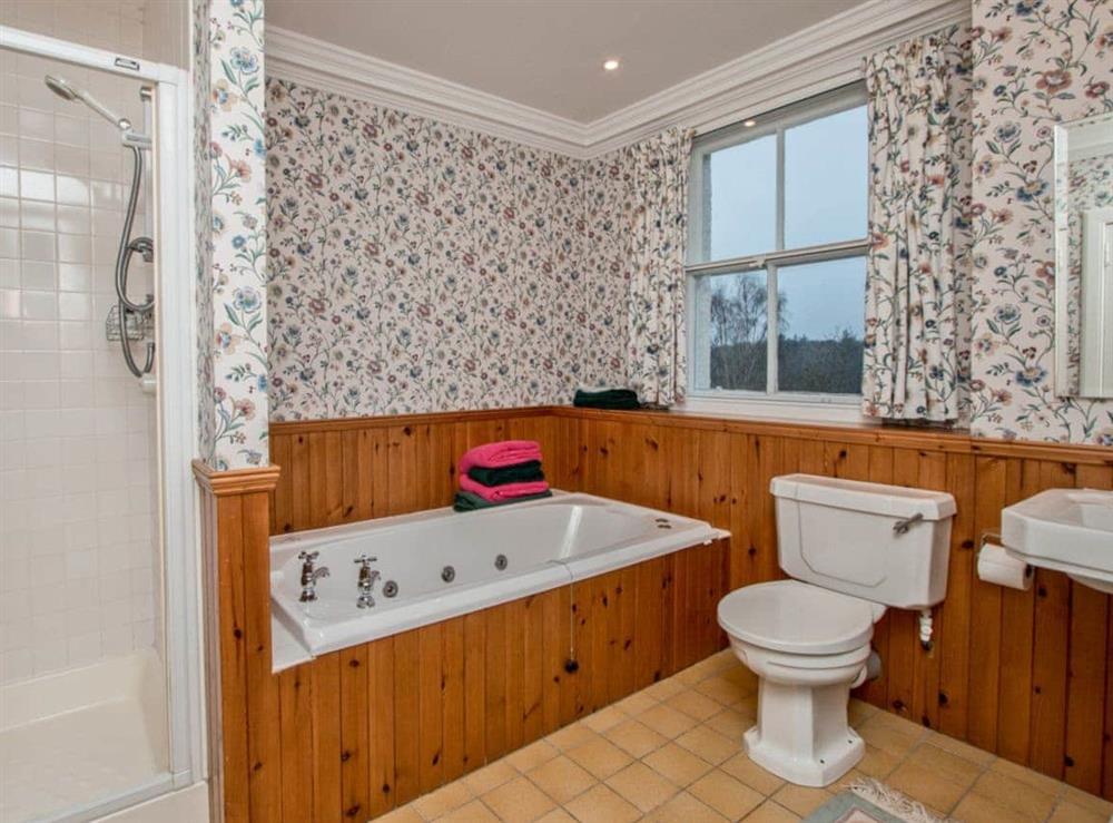 Bathroom at Monkwood House in Minishant, near Ayr, Ayrshire