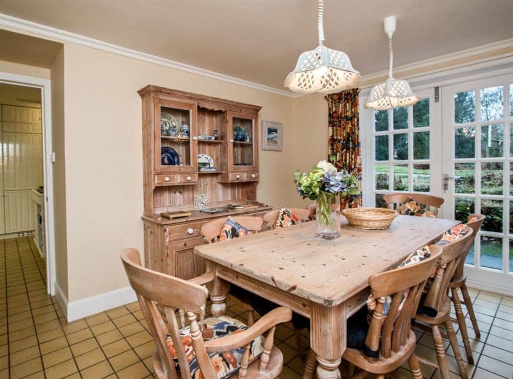 Breakfast room at Monkwood House in Minishant, near Ayr, Ayrshire