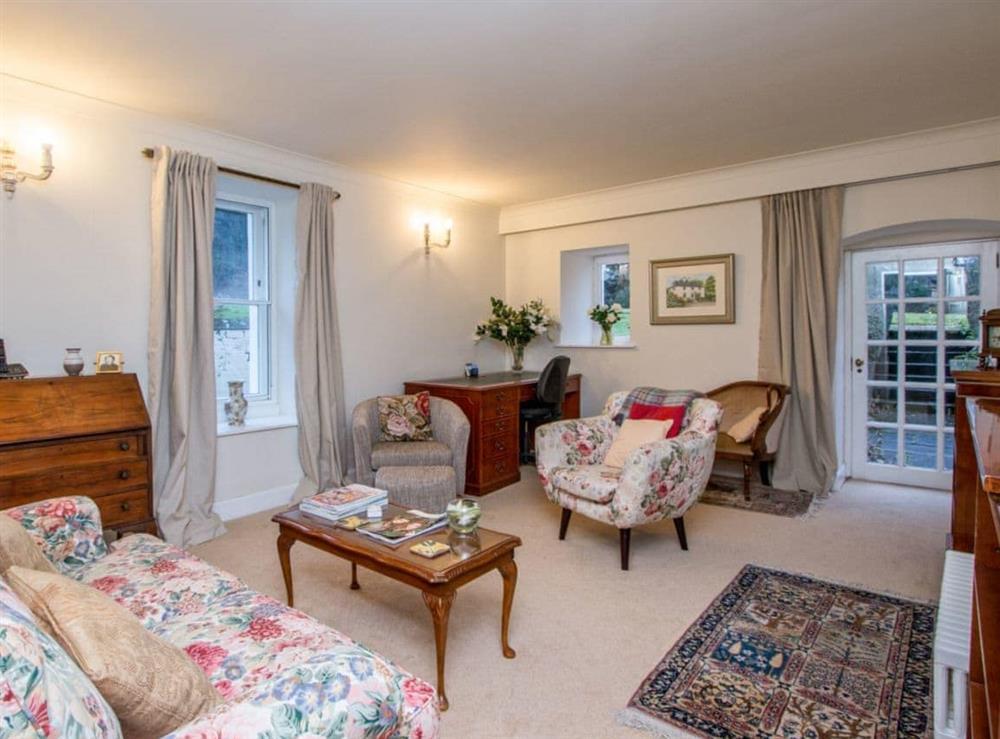 Comfortable living room at Monkwood House in Minishant, near Ayr, Ayrshire
