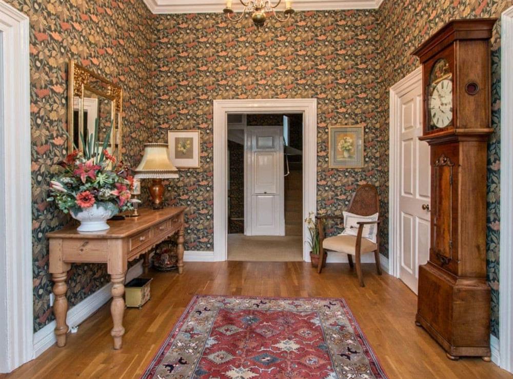 Entrance hallway at Monkwood House in Minishant, near Ayr, Ayrshire