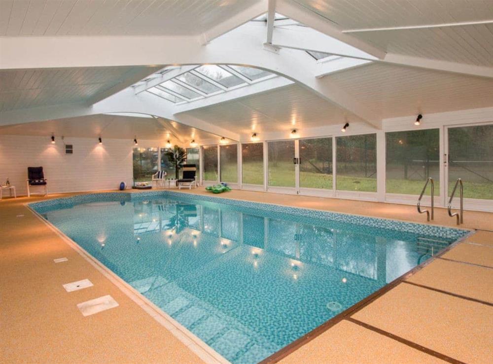 Impressive indoor swimming pool at Monkwood House in Minishant, near Ayr, Ayrshire