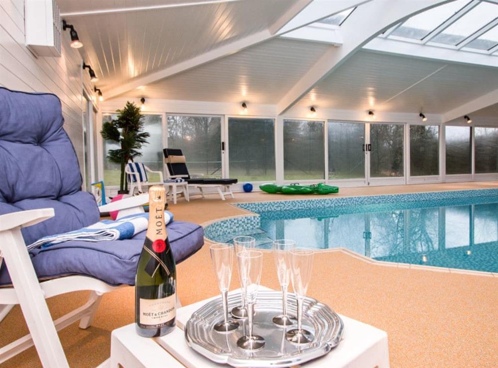 Indoor swimming pool at Monkwood House in Minishant, near Ayr, Ayrshire