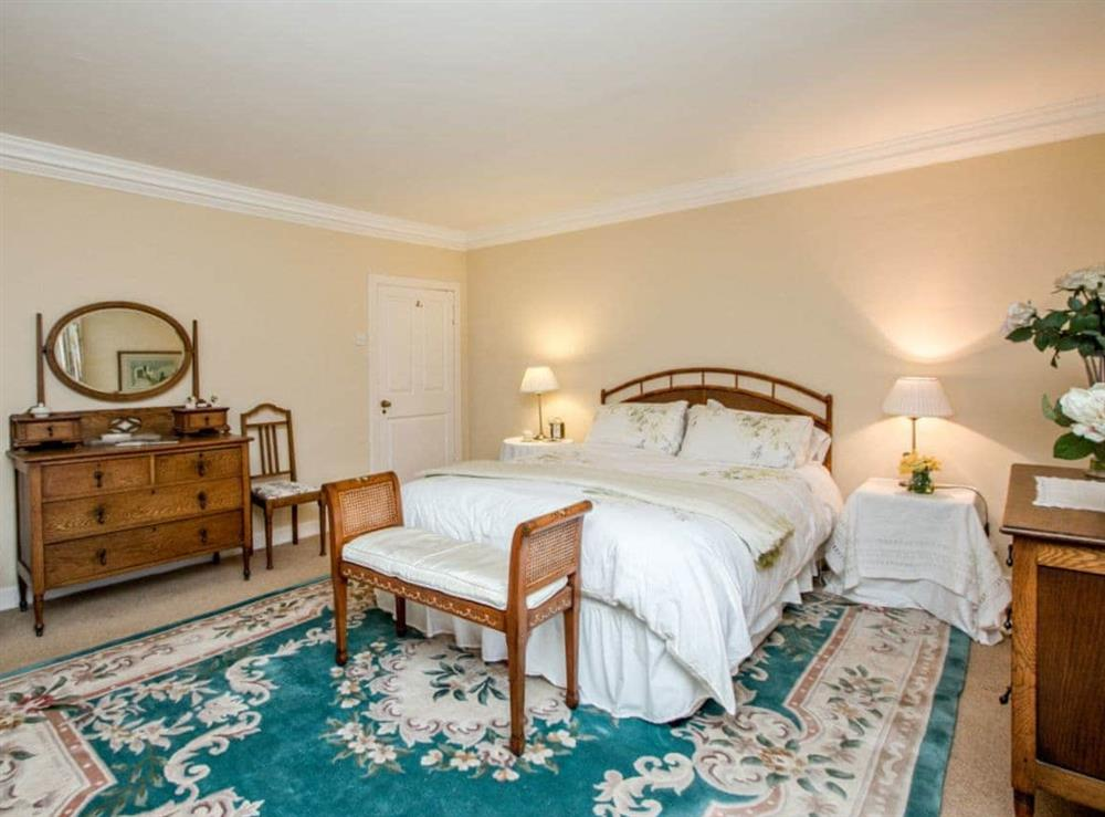 Kingsize bedroom at Monkwood House in Minishant, near Ayr, Ayrshire