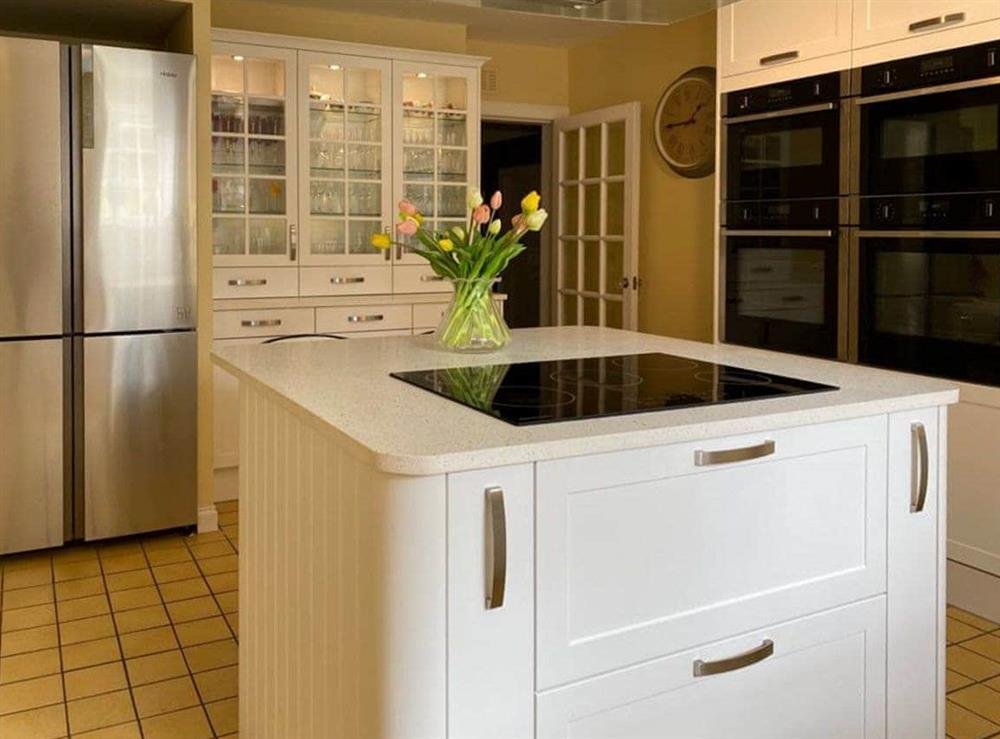 Large well equipped kitchen at Monkwood House in Minishant, near Ayr, Ayrshire