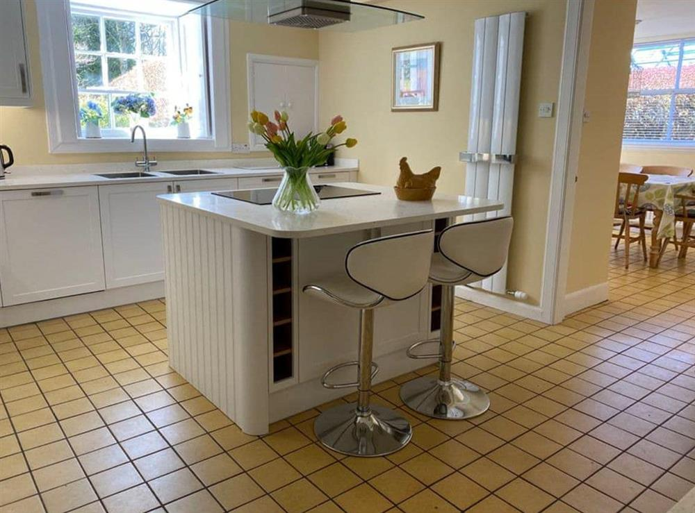 Well equipped kitchen at Monkwood House in Minishant, near Ayr, Ayrshire