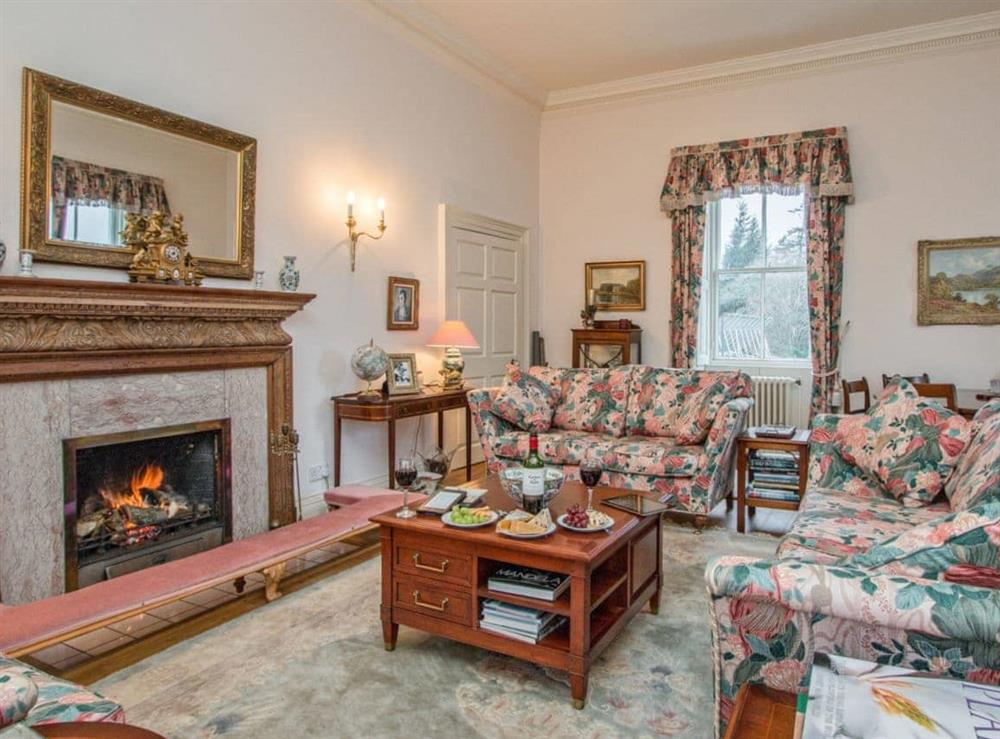 Well presented living room at Monkwood House in Minishant, near Ayr, Ayrshire