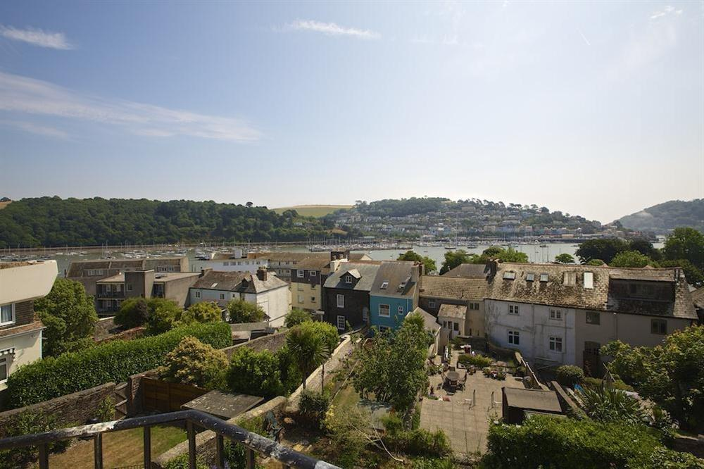 Excellent views over Dartmouth from the kitchen, living room and twin bedroom at Moonrakers in , Dartmouth