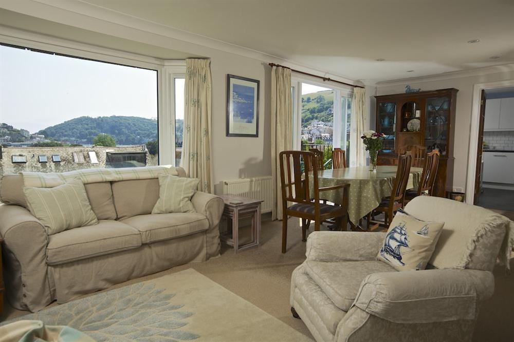 Light and spacious sitting room with views over Dartmouth at Moonrakers in , Dartmouth