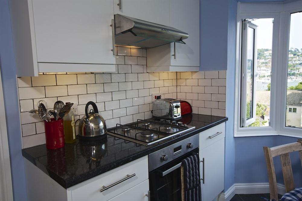 Stylishly presented and recently refurbished kitchen at Moonrakers in , Dartmouth