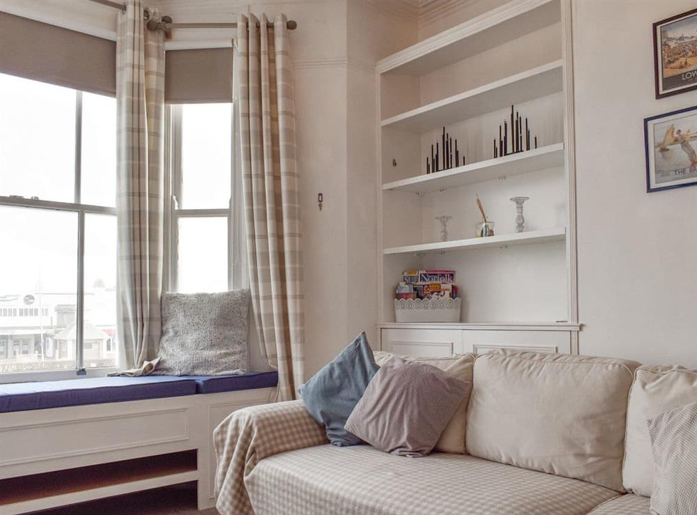 Cosy living area with sea views at Flat 3 Sea View,