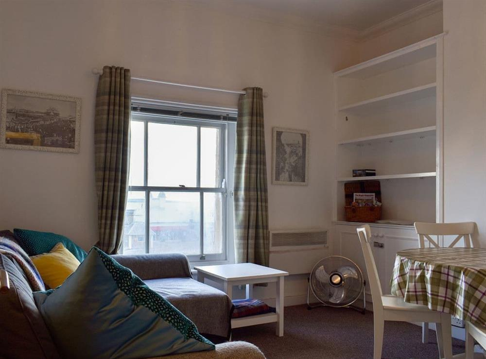 Cosy open plan living space at Flat 4 Horizon View,