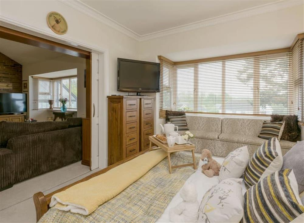 Attractive double bedroom off from the living room at Morea in Horning, Norfolk