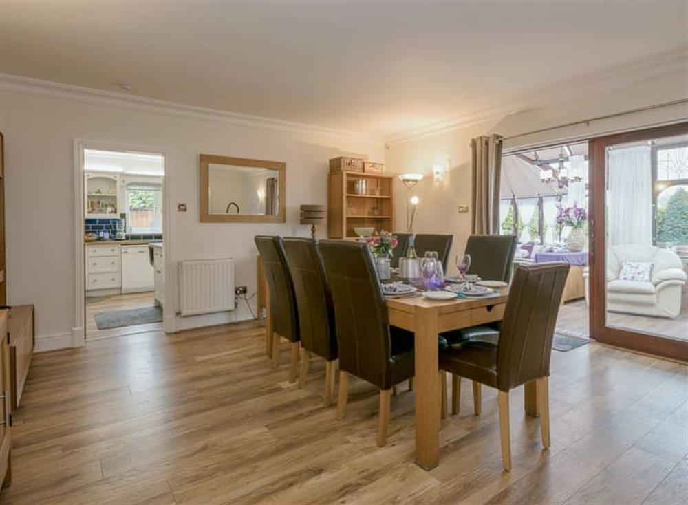 Large dining room at Morea in Horning, Norfolk