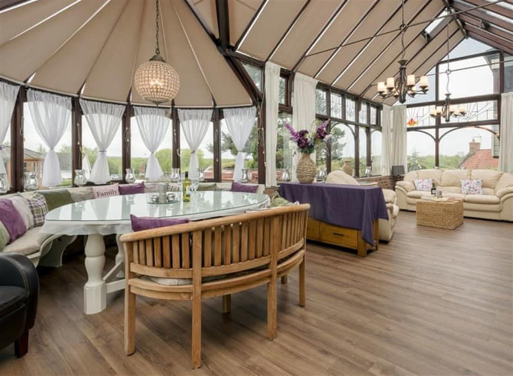 Light and airy conservatory at Morea in Horning, Norfolk