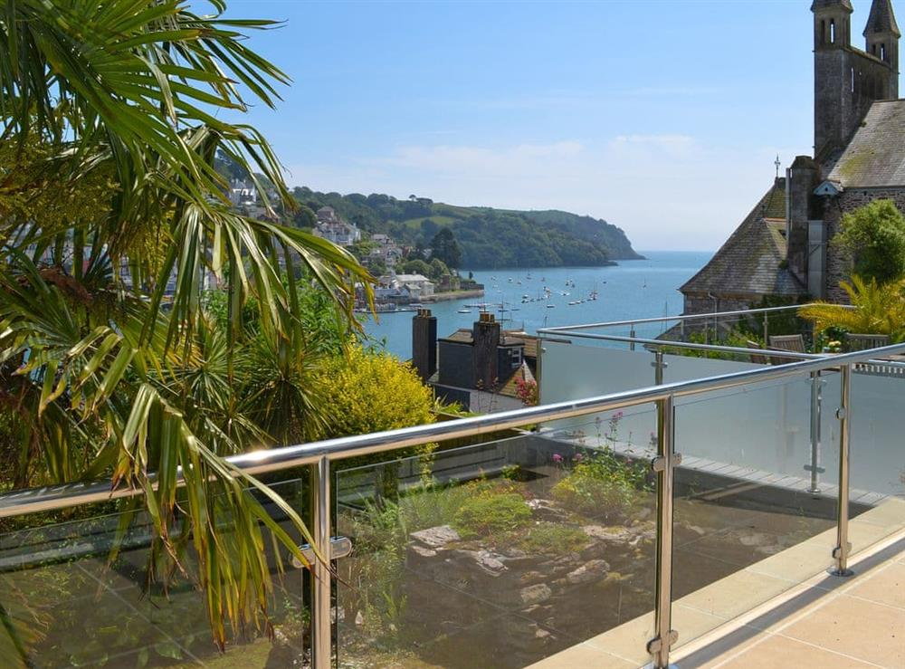 Sitting-out-area with fantastic views (photo 2) at Morning Sun, Above Town 47 in Dartmouth, Devon