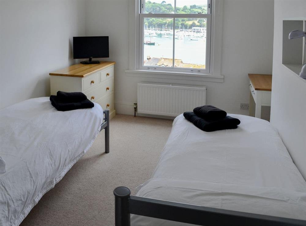 Twin bedroom at Morning Sun, Above Town 47 in Dartmouth, Devon