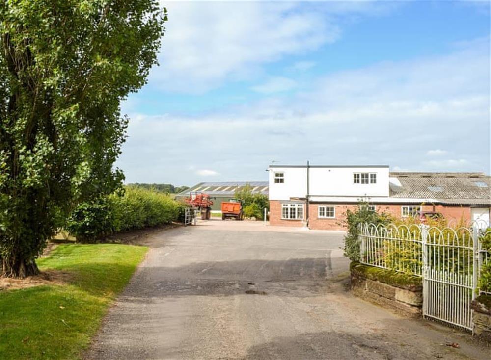 Working farm at Moss Hall Barn in Rushton, near Tarporley, Cheshire
