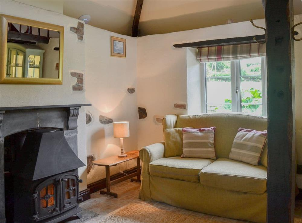 Cosy wood burner in the living area at The Pumphouse,